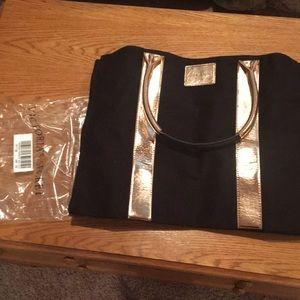 Black and gold Victoria Secret tote